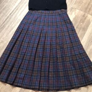 Vintage Pendleton Classic Pleated Wool Skirt